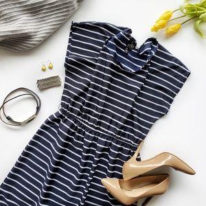 Fun & Flirt Navy & White Striped Dress Size Large